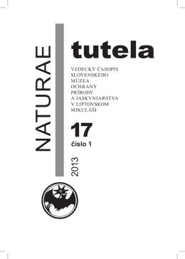 Abstrakty NT 17/1,2 rok 2013 - Slovenské múzeum ochrany prírody