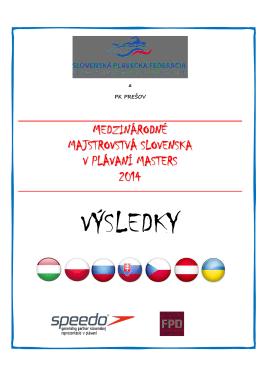 Výsledky všetkých disciplín - Plavecký veteránsky klub Bratislava
