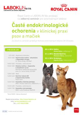 Časté endokrinologické ochorenia - Komora veterinárnych lekárov SR