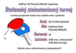 26.12.2014 (piatok) zabezpečené Kultúrny Dom Plavecký Mikuláš 5