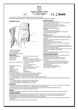 Aparat de detectare / alarmă CO / monoxid de carbon Nr. articol