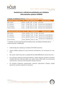 Minimálna a odporúčaná konfigurácia na stiahnutie v .pdf formáte.