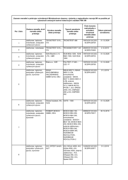 meradlá EK - maso - Ministerstvo dopravy, výstavby a regionálneho