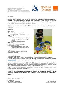 tvorba úloh pre deti s autizmom.