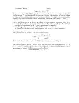 27.11.2014, 3. skupina Jméno: Zápoctový test z PSI Nezapomente