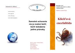 Kliešťová encefalitída - Regionálny úrad verejného zdravotníctva