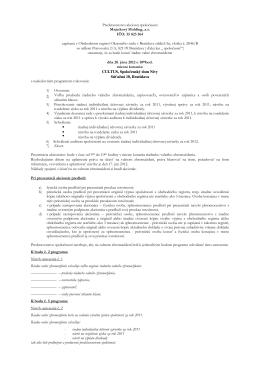 Oznámenie - Majetkový holding, a. s.