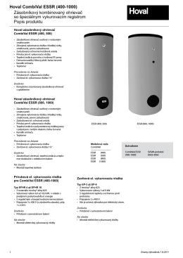 Popis produktu Zásobníkový kombinovaný ohrievač so špeciálnym