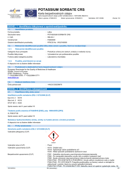 potassium sorbate crs - European Directorate for the Quality of