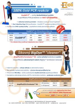 """100% čisté PCR reakcie Šikovný BigDye™ """"cleaner"""""""