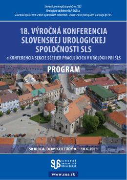 18. výročná konferencia slovenskej urologickej spoločnosti sls