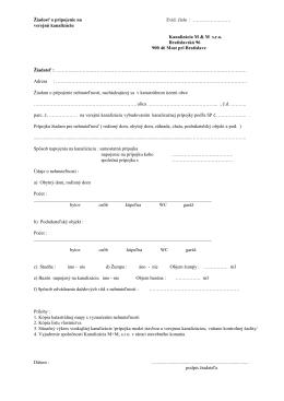 Žiadosť o pripojenie na verejnú kanalizáciu.pdf