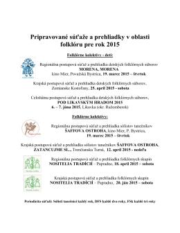 FOLKLOR Pripravované súťaže a prehliadky 2015.pdf