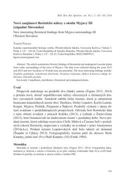 Nové zaujímavé floristické nálezy z okolia Myjavy III (západné