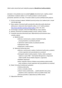 Vážení vedúci záverečných prác študijného programu Manažérstvo
