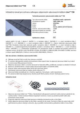 Inštalačný návod - ochrana odkvapov odporovým káblom Line™T30