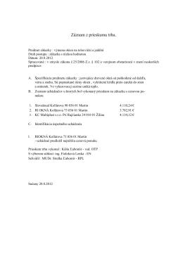 Záznam z prieskumu trhu.