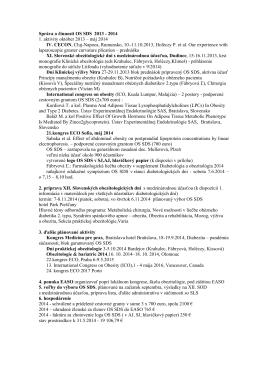 Správa o činnosti OS SDS 2013 - 2014 1. aktivity október 2013