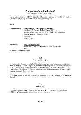 Nájomná zmluva (krátkodobá) - Stredná odborná škola obchodu a