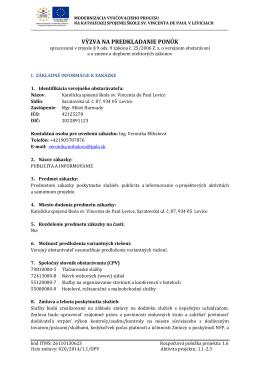 Výzva – Publicita a informovanie - Gymnázium sv. Vincenta de Paul