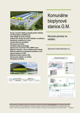 Komunální bioplynové stanice.
