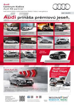 Audi prináša prémiovú jeseň.