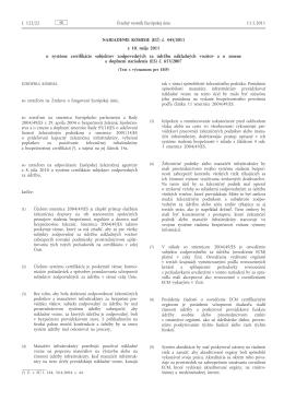 Nariadenie Komisie (EÚ) č. 445/2011 z 10. mája 2011 o systéme