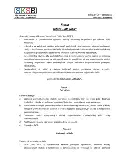 """Štatút súťaže """"SBS roka"""" - Slovenská komora súkromnej bezpečnosti"""
