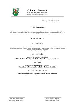 Výpisy z uznesení OZ Častá zo dňa 27.01.2015.pdf