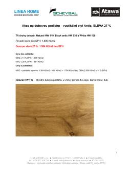 Akce na dubovou podlahu – rustikální styl Antic, SLEVA 27 %