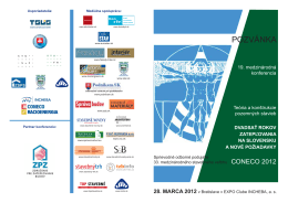 pozvánka - Ministerstvo dopravy, výstavby a regionálneho rozvoja SR