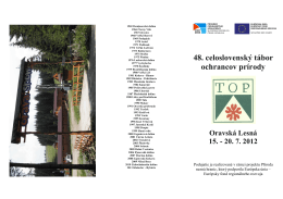 48. celoslovenský tábor ochrancov prírody Oravská Lesná 15.
