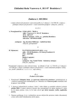 Wattsenglish Slovakia, s.r.o. - ZŠ, Vazovova 4, 811 07 Bratislava