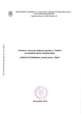 15/2014 - Ministerstvo dopravy, výstavby a regionálneho rozvoja SR