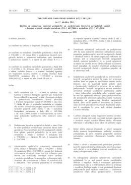Vykonávacie nariadenie Komisie (EÚ) č. 1035/2011 zo - EUR-Lex