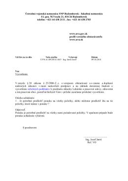 Vysvetlenie SP (1412832680.pdf) - Ústredná vojenská nemocnica