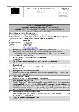 48-2013 revízie a servis EZS.pdf - Psychiatrická nemocnica Hronovce