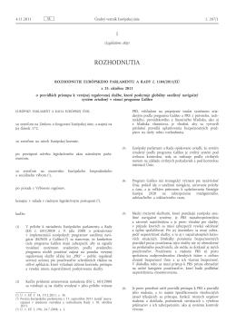 Rozhodnutie Európskeho parlamentu a Rady č. 1104/2011/EÚ z 25