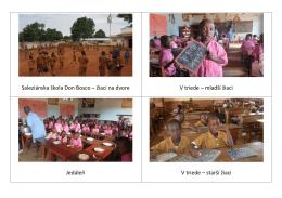 Saleziánska škola Don Bosco – žiaci na dvore V triede – mladší
