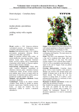titus - Výskumný ústav ovocných a okrasných drevín as Bojnice