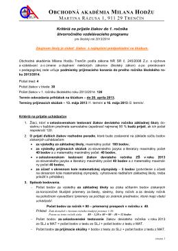 636106 Obchodná akadémia Milana Hodžu, Martina Rázusa 1, Tren?