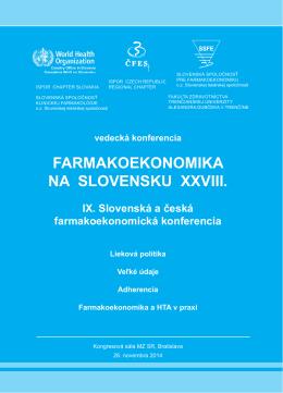 FE program XXV .indd - Slovenská spoločnosť klinickej farmakológie
