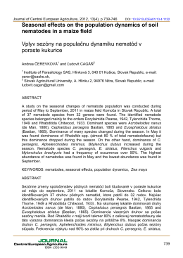 Seasonal effects on the population dynamics of soil nematodes in a