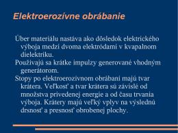 Elektroerozívne obrábanie - Vitajte na stránke vyrzar.wbl.sk.