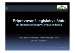 Nová legislatíva.
