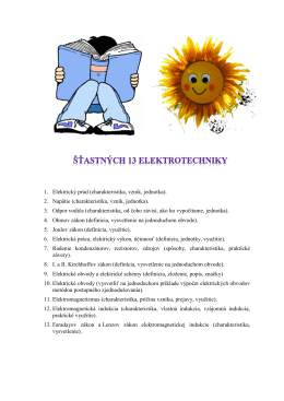 1. Elektrický prúd (charakteristika, vznik, jednotka).