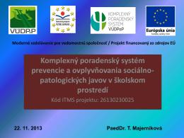 Projektové centrum pre špeciálnych pedagógov a zapojenie CŠPP v