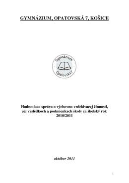 gymnázium, opatovská 7, košice - Gymnázium, Opatovská cesta 7