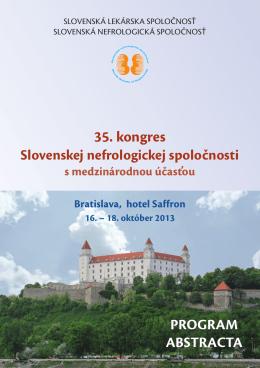 Nefrokongres 2013 ABSTRAKTY - Slovenská nefrologická spoločnosť