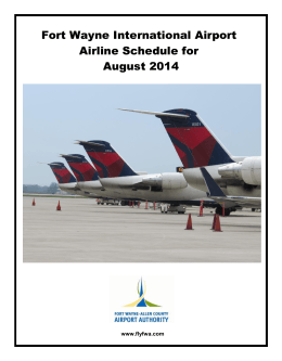 Fort Wayne International Airport Airline Schedule for August 2014